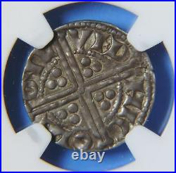 1247-72 Great Britain England Henry III Silver One 1 Pence Coin S-1367A NGC AU55