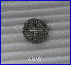 1422 Great Britain silver groat HENRY VI hammered coin Calais mint XF