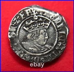 1526-1532 King Henry VIII Archbishop Warham Great Britain Silver Half Groat Coin