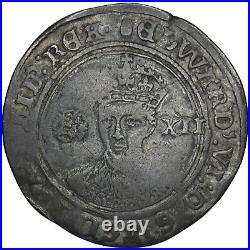 1551-3 Edward VI Shilling British Silver Hammered Coin Nice