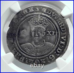 1551 GREAT BRITAIN England Tudor King Edward VI Silver Shilling Coin NGC i81191