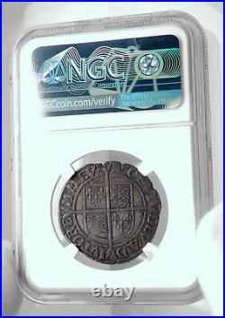 1592 ENGLAND Great Britain UK Queen ELIZABETH I Silver Shilling Coin NGC i80914