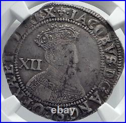 1604 GREAT BRITAIN UK King JAMES who made BIBLE Silver Shilling Coin NGC i81743