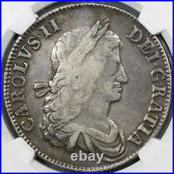1662 NGC VF 25 Charles II Crown England Great Britain No Rose Coin (19082505C)