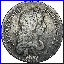 1668 Shilling Charles II British Silver Coin