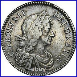 1671 Halfcrown Charles II British Silver Coin Nice