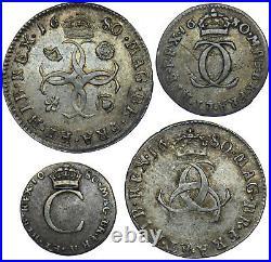 1680 Maundy Set Charles II British Silver Coins Nice