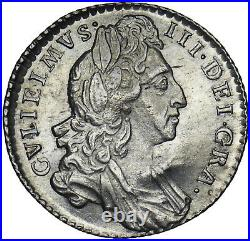 1697 Sixpence William III British Silver Coin V Nice