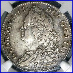 1746 NGC VF 35 George II 1/2 Crown Great Britain Spain Lima Coin (20102301C)