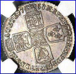 1758 NGC UNC Det George II Shilling Great Britain Uncirculated Coin (20072901C)
