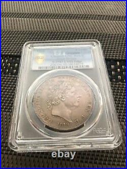 1818 Great Britain UK LVIII George III Crown Sliver Coin PCGS UNC Nice Toned