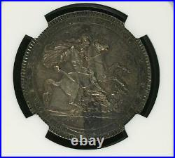 1818 LVIII Great Britain Crown NGC AU55 Silver Pics and HD Video