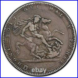 1819 Great Britain Silver Crown Coin PCGS F-15 With TruView- Free Ship