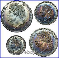 1828 Maundy Set George IV British Silver Coins Superb