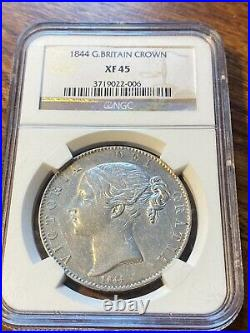 1844 Great Britain Crown. Ngc Xf45. Catalogs 2250.00 In Xf40