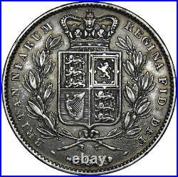 1845 Crown Victoria British Silver Coin Nice
