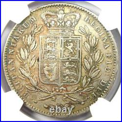 1847 Great Britain England Victoria Crown Coin Certified NGC XF40 (EF40)
