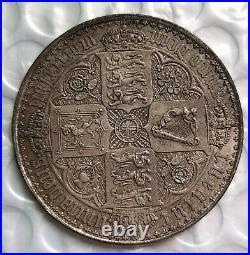 1847, Great Britain, Queen Victoria. Rare Proof Silver Gothic Crown