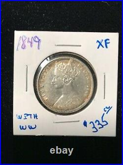 1849 Great Britain One Florin Gothic Style