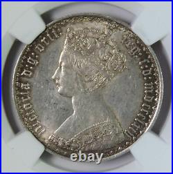 1864 Great Britain Victoria Gothic 2 Shillings / One Florin Silver Coin NGC MS61