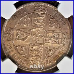 1883 Great Britain Florin Victoria Gothic Portrait NGC AU Details