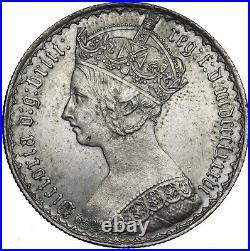 1886 Gothic Florin Victoria British Silver Coin Superb
