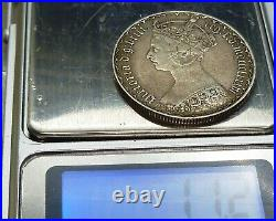 1886 Great Britain GOTHIC Florin KM# 746.4 SILVER COIN
