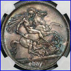 1887 NGC MS 63 Victoria Crown Great Britain Silver St. George Coin (21022103C)