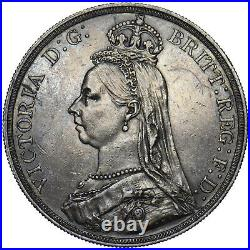1888 Crown Victoria British Silver Coin Very Nice