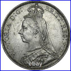 1890 Crown Victoria British Silver Coin V Nice