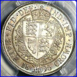 1895 PCGS MS 65 Victoria 1/2 Crown Great Britain Silver Coin (20020501C)