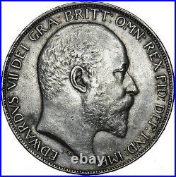 1902 Crown Edward VII British Silver Coin V Nice