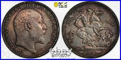 1902 Great Britain Crown Edward VII S-3978 PCGS AU55 UK Silver Coin