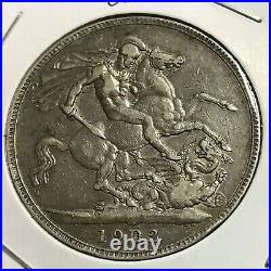 1902 Great Britain Silver King Edward Crown Coin 1 Year Issue Scarce
