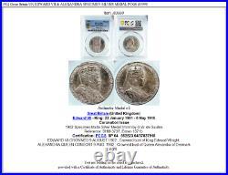 1902 Great Britain UK EDWARD VII & ALEXANDRA SPECIMEN SILVER MEDAL PCGS i83990