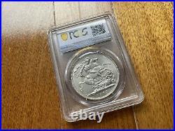 1902 UK Great Britain King Edward VII Crown Silver Coin PCGS MS63 Gem BU