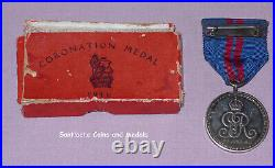 1911 Official Boxed King George V Coronation Medal In Silver