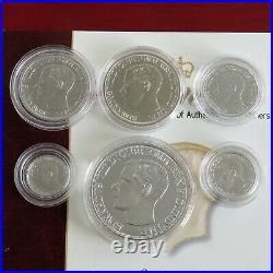 1936 Edward VIII New Strike 6 Coin Silver Proof Pattern Set