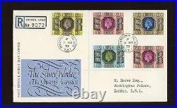 1977 Silver Jubilee ROYAL COURT Post Office with BUCKINGHAM PALACE CDS FDC