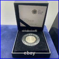 2009 UK Coin1x Royal Mint 50p Silver Proof Coin Kew Gardens 1809 2009 BOX&COA