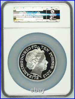 2013 Great Britain S10PND Silver 5oz Coronation 60th Anniversary NGC PF69UC FDI