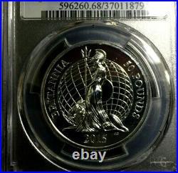 2015 BRITANNIA £50 PCGS MS 68 Gold Shield GREAT BRITAIN 1 oz Silver Coin