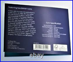 2015 Great Britain Britannia & Lion 1 oz. 999 silver coin with presentation card
