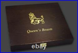2016-2021 16 Oz SIlver Great Britain QUEEN'S BEAST 2 Oz 10 Coin Set