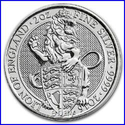 2016 Great Britain Bu Roll 10 X 2 Oz Silver Queen's Beasts Lion England