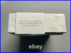 2016 Royal Mint Beatrix Potter Peter Rabbit Silver Proof Colour UK 50P Boxed COA