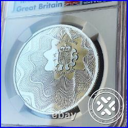 2017 1 Oz Silver Coin Ngc Ms 70 Great Britain The Royal Mint Off Center Shield