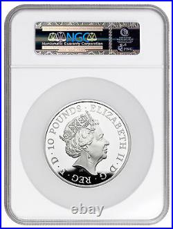 2017 Great Britain 10 oz Silver Queen's Beasts Lion of England NGC PF69 UC ER