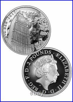 2017 Great Britain 1oz Silver Landmarks Big Ben 2-Coin Set Reverse Proof & Proof