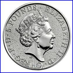 2017 Great Britain 2 oz Silver Queen's Beast Griffin £5 Coin GEM BU